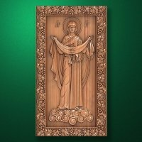 "Carved wooden icon ""Mother of God"" (77306)"