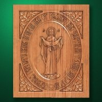 "Carved wooden icon ""Mother of God"" (77307)"