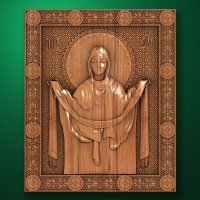 "Carved wooden icon ""Mother of God"" (77308)"
