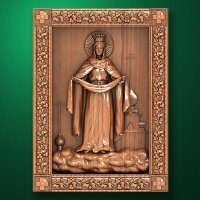 "Carved wooden icon ""Mother of God"" (77309)"
