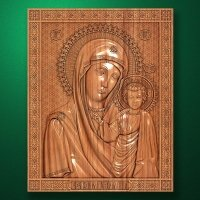 "Carved wooden icon ""Mother of God"" (77311)"