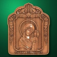 "Carved wooden icon ""Mother of God"" (77312)"