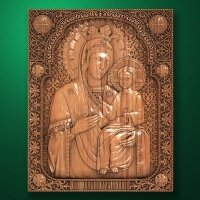 "Carved wooden icon ""Mother of God"" (77314)"