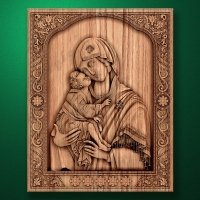 "Carved wooden icon ""Mother of God"" (77315)"