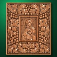 "Carved wooden icon ""Mother of God"" (77317)"