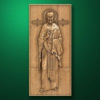 "Carved wooden icon ""Saint Nicholas"""