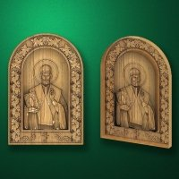 "Wooden carved icon ""Saint Nicholas"""
