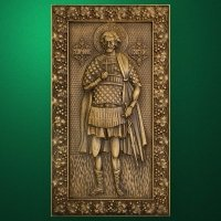 "Carved wood icon ""St. Victor martyr"""
