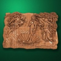 "Wood carved panel ""The Birth of Venus"""