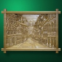 Carved panel Urban landscape