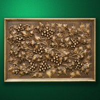 """Carved wood panno """"Grape composition"""""""