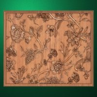 """Carved wood panels """"Summer flowers"""""""