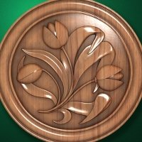 """Carved wood panels """"Tulips"""""""